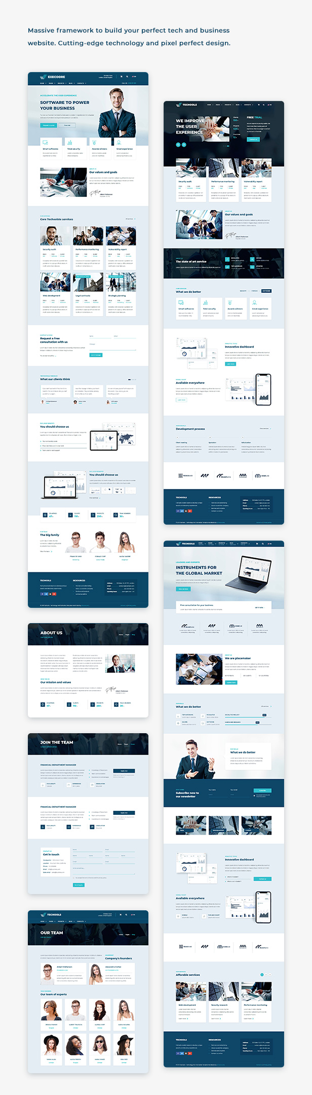Execoore - Tech And Fintech Template - 1